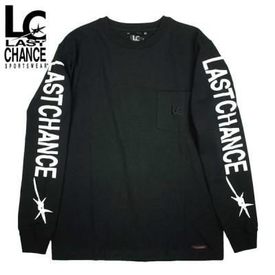 Last Chance ラストチャンス SLEEVE PRINT L/S POCKET TEE / BLACK