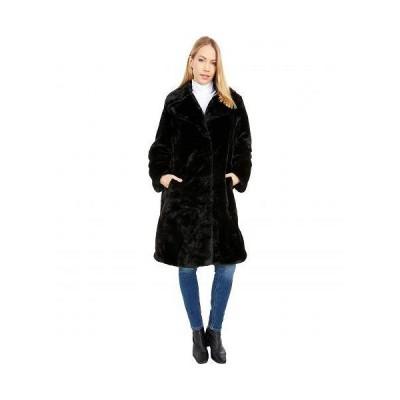 Avec Les Filles レディース 女性用 ファッション アウター ジャケット コート Faux Fur Bunny Coat - Black