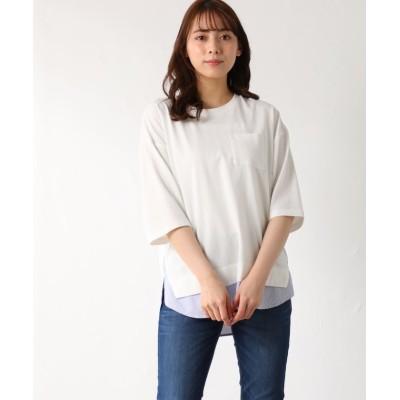 (Honeys/ハニーズ)異素材使いTシャツ/レディース オフホワイト