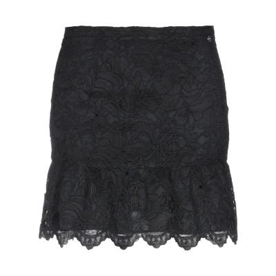 リュー ジョー LIU •JO ミニスカート ブラック 38 ポリエステル 100% ミニスカート