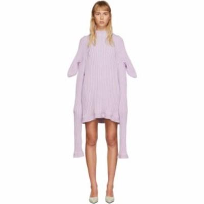 クリスティーナ ゼーヴァルト Christina Seewald レディース ワンピース ワンピース・ドレス SSENSE Exclusive Purple Knitted Shewee Dr