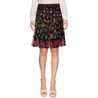 VERSACE COLLECTION ひざ丈スカート ブラック 44 ポリエステル 100% ひざ丈スカート