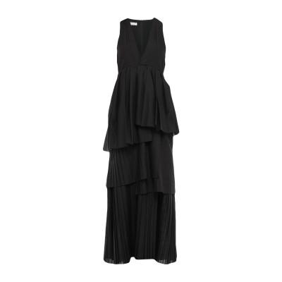 ブルネロ クチネリ BRUNELLO CUCINELLI ロングワンピース&ドレス ブラック M ポリエステル 65% / コットン 35% ロング