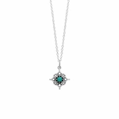 ネックレス Boma Jewelry スターリングシルバー フィリグリーターコイズフラワーペンダントネックレス 18インチ