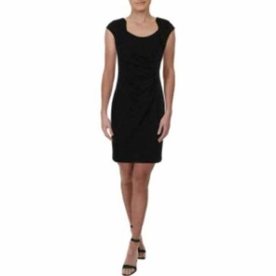 Calvin Klein カルバンクライン ファッション ドレス Calvin Klein Womens Sheath Dress Black Size 12P Gathered Petite