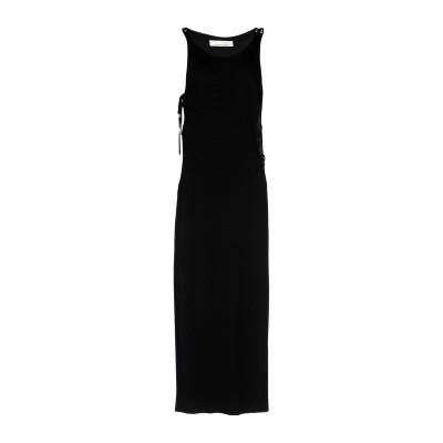 リビアナ コンティ LIVIANA CONTI 7分丈ワンピース・ドレス ブラック 44 レーヨン 80% / ナイロン 20% 7分丈ワンピース・