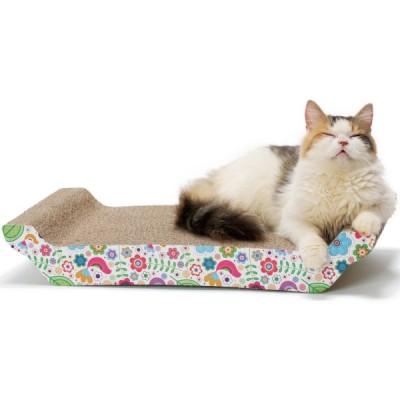 猫壱 バリバリ ベッドL 花柄
