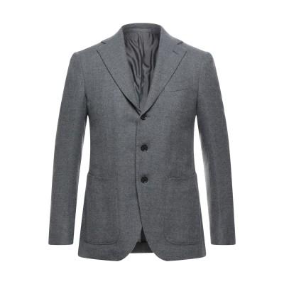 カルーゾ CARUSO テーラードジャケット グレー 54 ウール 93% / シルク 4% / カシミヤ 3% テーラードジャケット