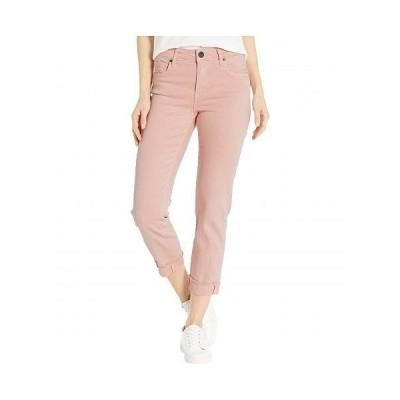 KUT from the Kloth カットフロムザクロス レディース 女性用 ファッション ジーンズ デニム Amy Crop Straight Leg Roll Up Frey in Pink - Pink