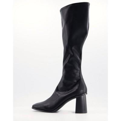 レイド レディース ブーツ・レインブーツ シューズ RAID Lennyo knee high boots in black leather look