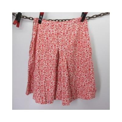70s キュロット レディース 赤 アニマル柄 スカート ビンテージ アメリカ古着 sy028