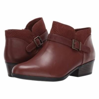 クラークス Clarks レディース ブーツ シューズ・靴 Addiy Sharilyn Dark Tan Leather