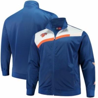 Majestic マジェスティック スポーツ用品  Majestic New York Knicks Blue/White Tricot Full-Zip Track Jacket