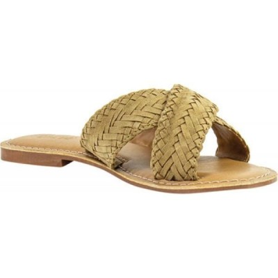 クレボ Crevo レディース サンダル・ミュール シューズ・靴 Anise Woven Slide Tan Kid