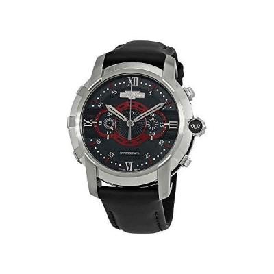 DeWitt Glorious Knight Chronograph Automatic Black Dial Men's Watch FTV.CHR.005.RFB 並行輸入品