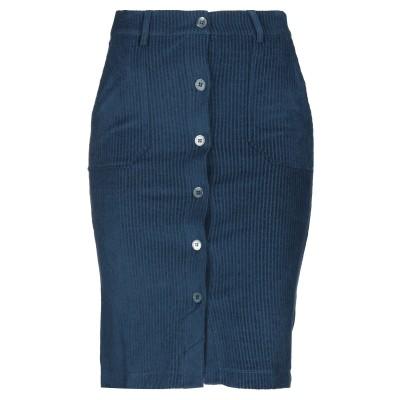 マジェスティック MAJESTIC FILATURES ひざ丈スカート ディープジェード 1 コットン 62% / カシミヤ 15% / シルク 1