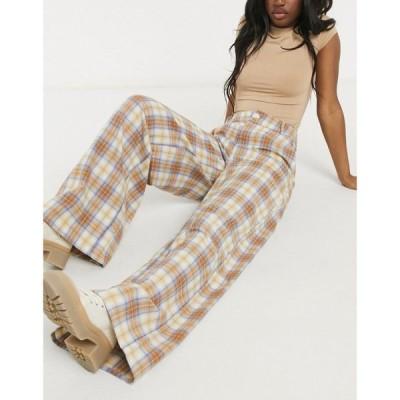 デイジーストリート Daisy Street レディース ボトムス・パンツ ワイドパンツ High Waist Wide Leg Trousers In Check Co-Ord ブラウンチェック