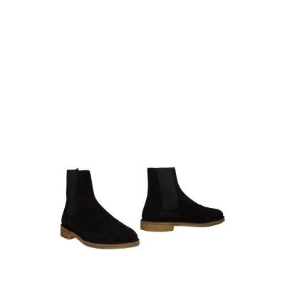 SAINT LAURENT ショートブーツ ブラック 40.5 革 ショートブーツ