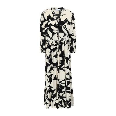 カルバン クライン CALVIN KLEIN ロングワンピース&ドレス ブラック 36 レーヨン 100% ロングワンピース&ドレス