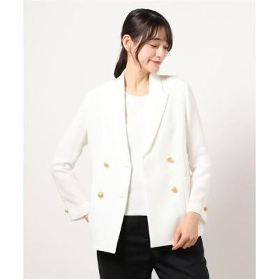 ジャケット テーラードジャケット カラミダブルコンパクトジャケット