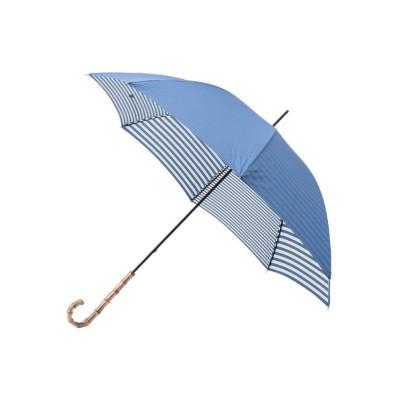 【マッキントッシュ フィロソフィー】 晴雨兼用裏ボーダー長傘 レディース ライト ブルー X MACKINTOSH PHILOSOPHY