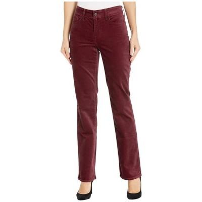 エヌワイディージェイ レディース カジュアルパンツ ボトムス Marilyn Straight Velvet Jeans in Grenache