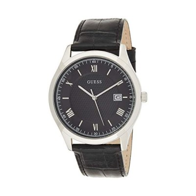 Guess Men's Analogue Quartz Watch with Leather Strap W1182G3 並行輸入品