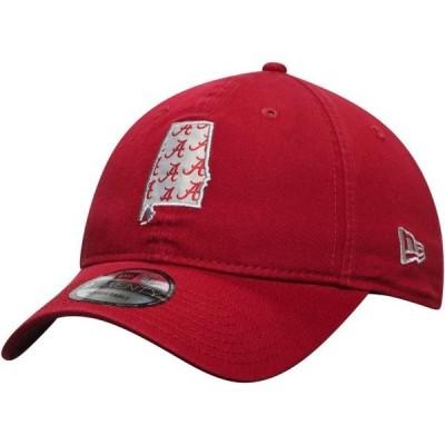 ユニセックス スポーツリーグ アメリカ大学スポーツ Alabama Crimson Tide New Era Stamp 9TWENTY Adjustable Hat - Crimson - OSFA