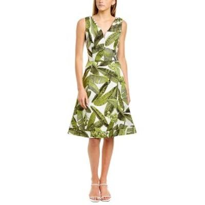 オスカー デ ラ レンタ レディース ワンピース トップス Oscar de la Renta Jacquard Silk A-Line Dress -