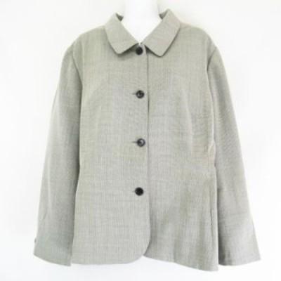 【中古】パスト-ラ PASTORA 東京スタイル 絹 シルク混 ウール ジャケット グレー 25AB