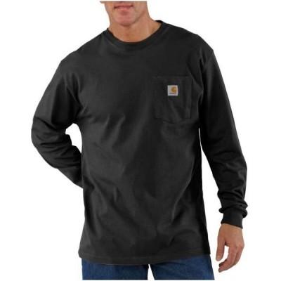 カーハート 長袖 ポケットTシャツ ブラック ロンT ポケT メンズ レディース CARHARTT LONG SLEEVE POCKET T-SHIRT BLACK K126-BLK