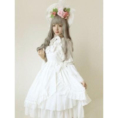 ドレス JSK 人魚の涙白いジャンパー スカート 甘いロリータ