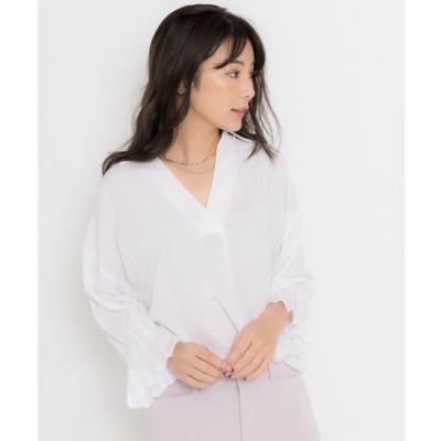 TONAL タックスリーブシャツ(オフホワイト)【返品不可商品】