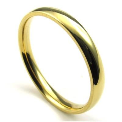 PW 高品質316Lステンレス 黄金色 指輪 リング 条件付 送料無料 22932