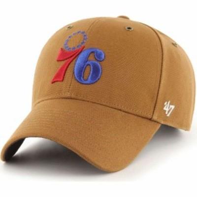フォーティセブン 47 メンズ キャップ 帽子 Philadelphia 76ers Brown Carhart MVP Adjustable Hat