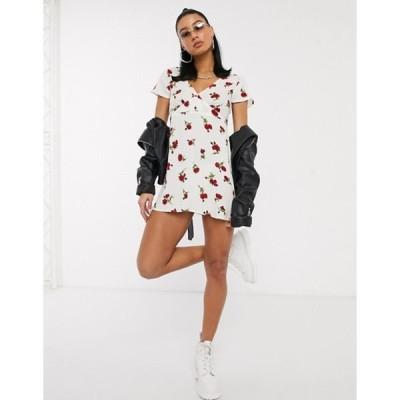 モーテル レディース ワンピース トップス Motel elara mini dress in rose print