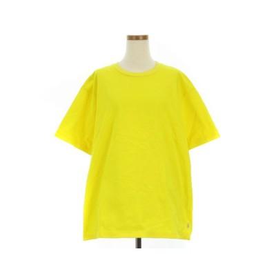 【中古】トラディショナルウェザーウェア Traditional Weatherwear BOX T-SHIRT Tシャツ 半袖 丸首 クルーネック 無地 黄 イエロー S IBS88 【ベクトル 古着】