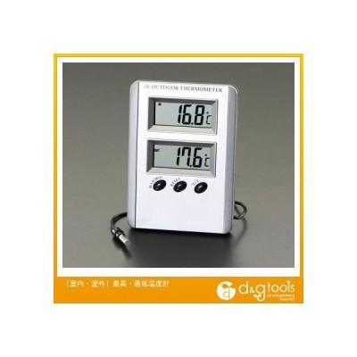 エスコ [室内・室外]最高・最低温度計 EA728AC-13A 0