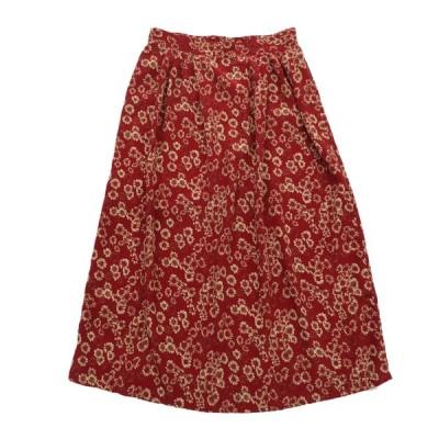 オールド ポリエステル 花柄 スカート サイズ表記:XL