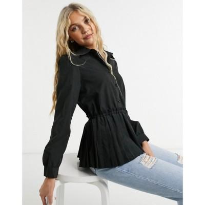 ローラ メイ Lola May レディース ブラウス・シャツ トップス smock shirt in black ブラック