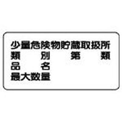 危険物標識(横型少量危険物貯蔵・鉄板(明治山・300×600 82853 ユニット