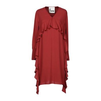 8PM ミニワンピース&ドレス レンガ XS 100% レーヨン ミニワンピース&ドレス