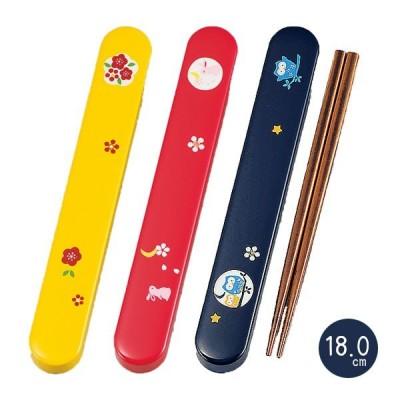 カトラリー メール便対応 おしゃれ HAKOYA 18.0スリム箸箱セット 五彩 日本製 弁当箱