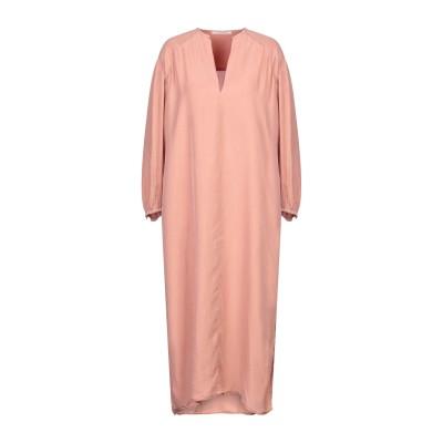POMANDÈRE 7分丈ワンピース・ドレス パステルピンク 40 シルク 100% 7分丈ワンピース・ドレス