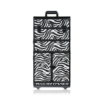 SHANY REBEL Series Pro Makeup Artists Rolling Train Case - Trolley Case - Zoo attack【並行輸入品】