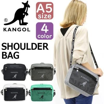 カンゴール ショルダーバッグ KANGOL バッグ 軽量 コンパクト スタイリッシュ かわいい 鞄 ブラック メンズ レディース