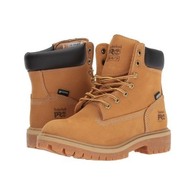 """ティンバーランド ブーツ&レインブーツ シューズ レディース Direct Attach 6"""" Steel Safety Toe Waterproof Insulated Wheat Nubuck Leather"""