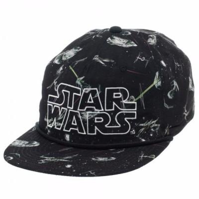 帽子 海外セレクション Star Wars All Over Print 5 Panel Slouch Snapback Licensed Hat