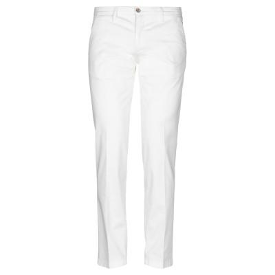 マニュエル リッツ MANUEL RITZ パンツ ホワイト 46 コットン 98% / ポリウレタン 2% パンツ