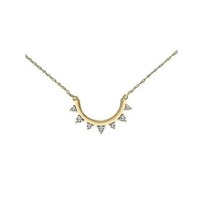 特別価格Diamond Sun Necklace for Women in 10k Yellow Gold 1/10ct (I-J, I3), 17 inch並行輸入品